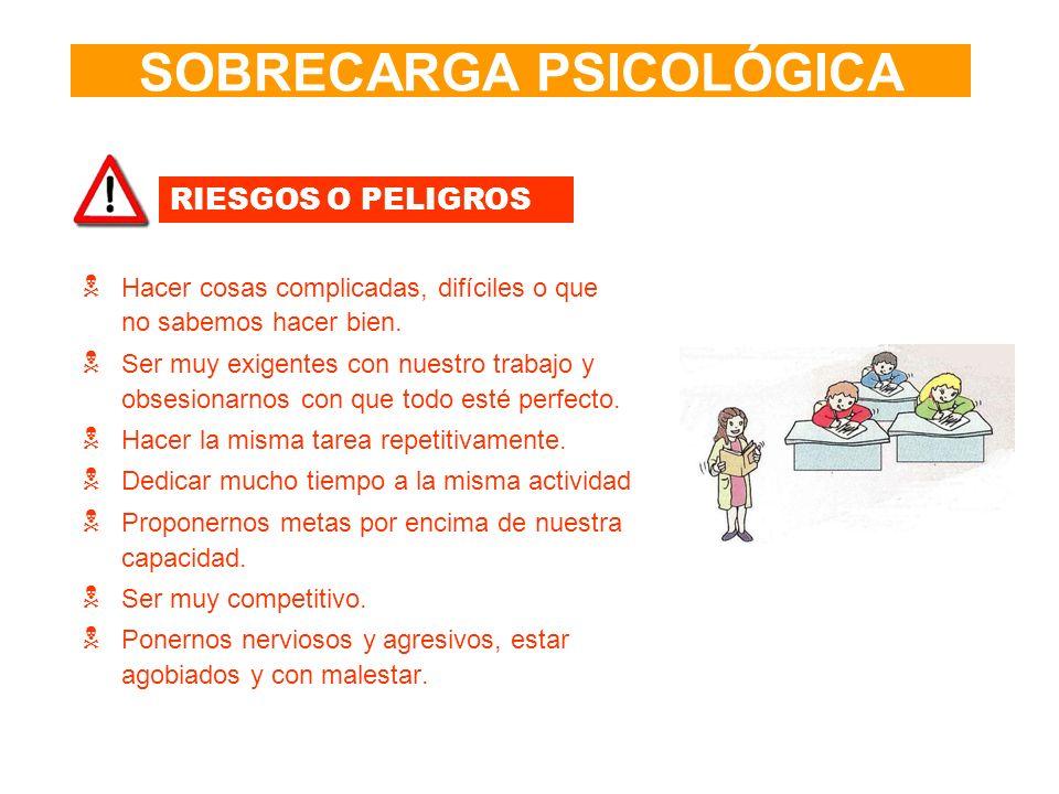 SOBRECARGA PSICOLÓGICA