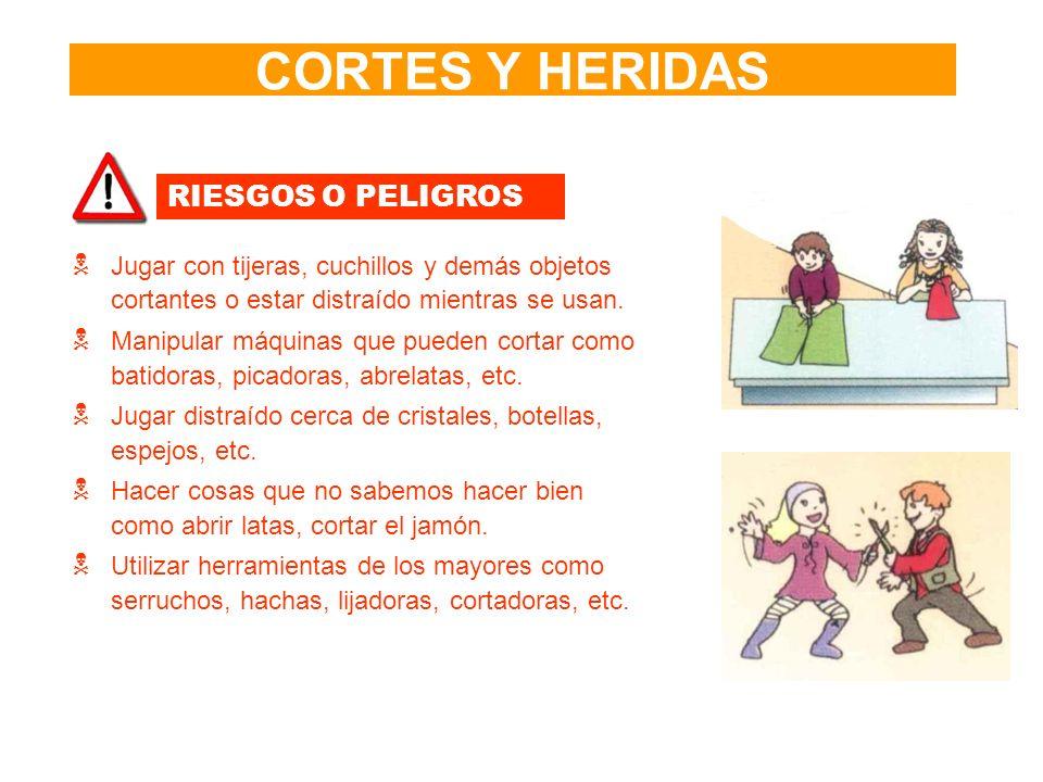 CORTES Y HERIDAS RIESGOS O PELIGROS
