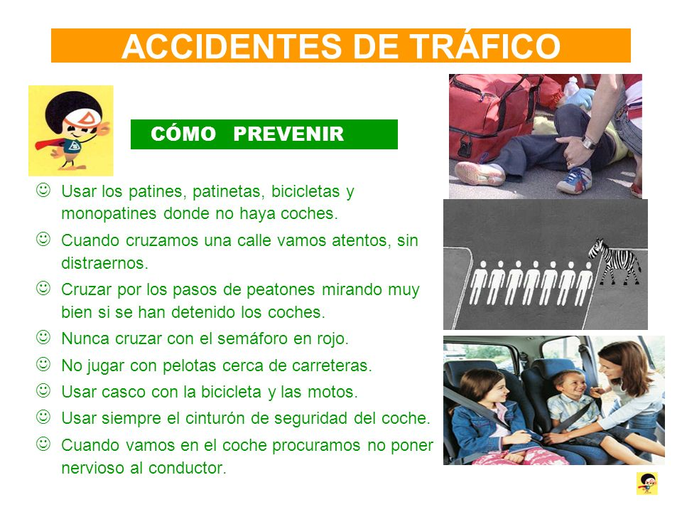 ACCIDENTES DE TRÁFICO CÓMO PREVENIR