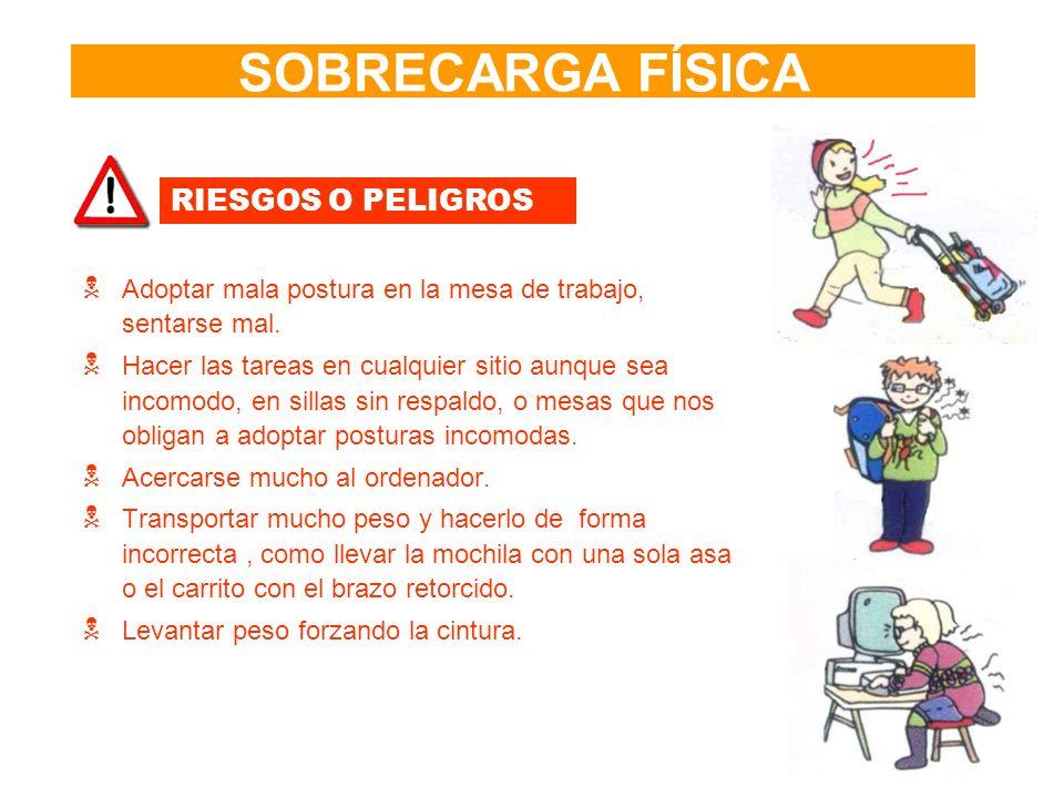 SOBRECARGA FÍSICA RIESGOS O PELIGROS