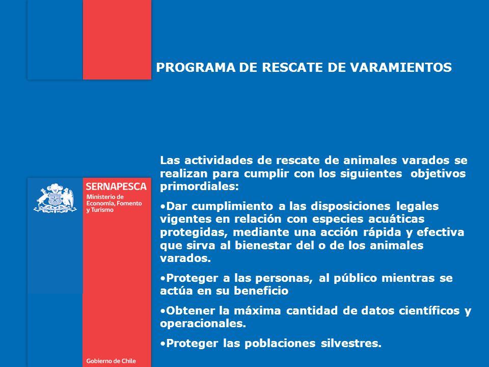 PROGRAMA DE RESCATE DE VARAMIENTOS
