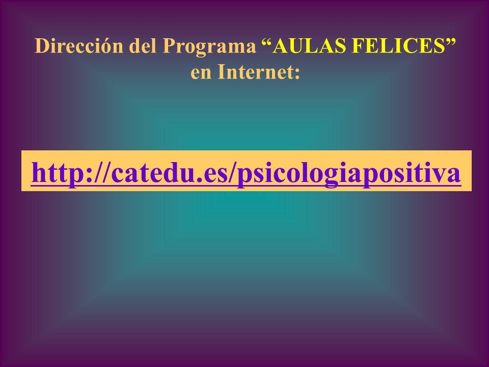 Dirección del Programa AULAS FELICES
