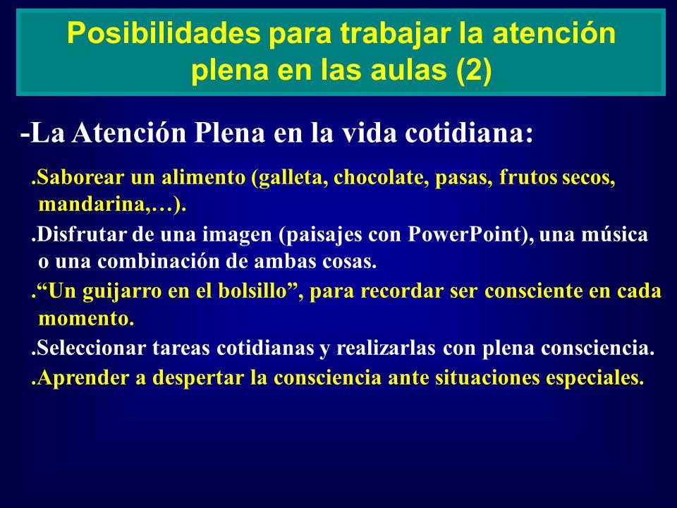 Posibilidades para trabajar la atención plena en las aulas (2)