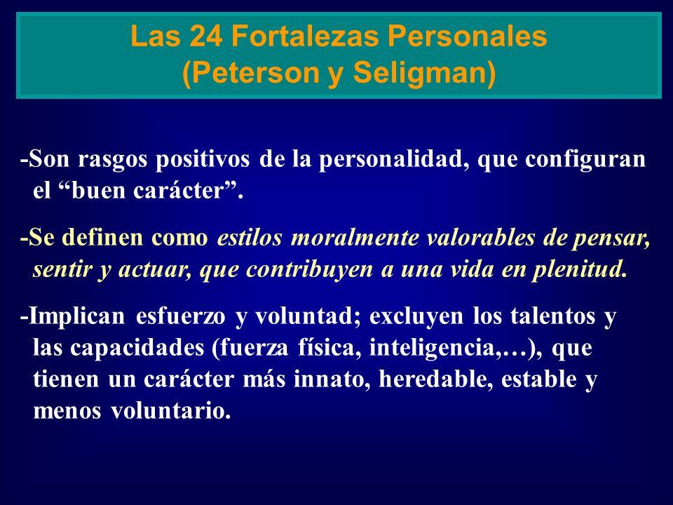 Las 24 Fortalezas Personales