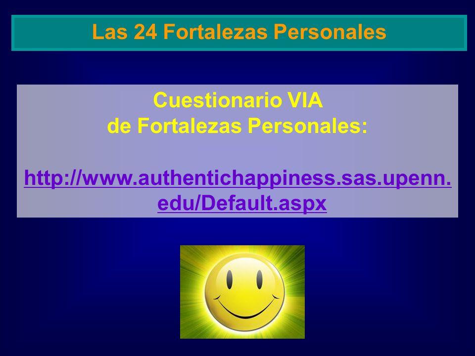 Las 24 Fortalezas Personales de Fortalezas Personales: