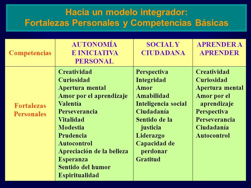 Hacia un modelo integrador: