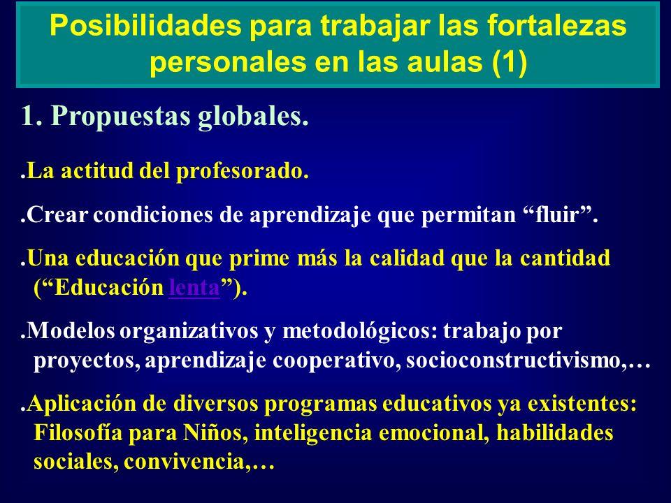 Posibilidades para trabajar las fortalezas personales en las aulas (1)