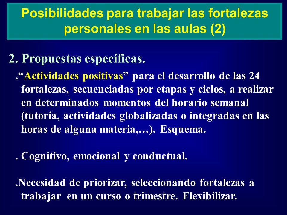 Posibilidades para trabajar las fortalezas personales en las aulas (2)