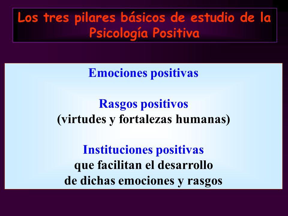 Los tres pilares básicos de estudio de la Psicología Positiva