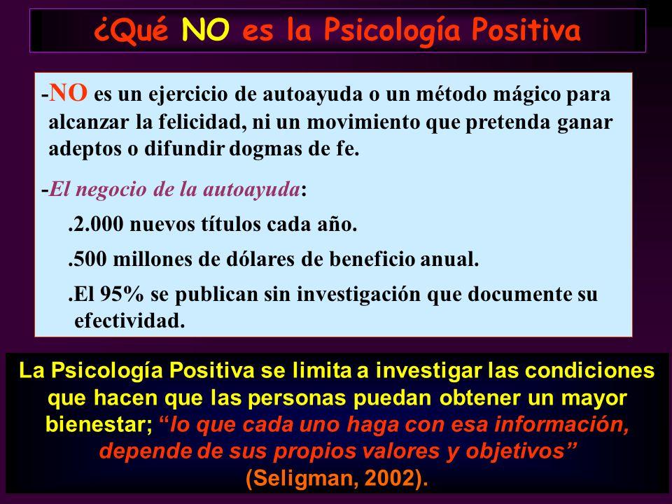 ¿Qué NO es la Psicología Positiva