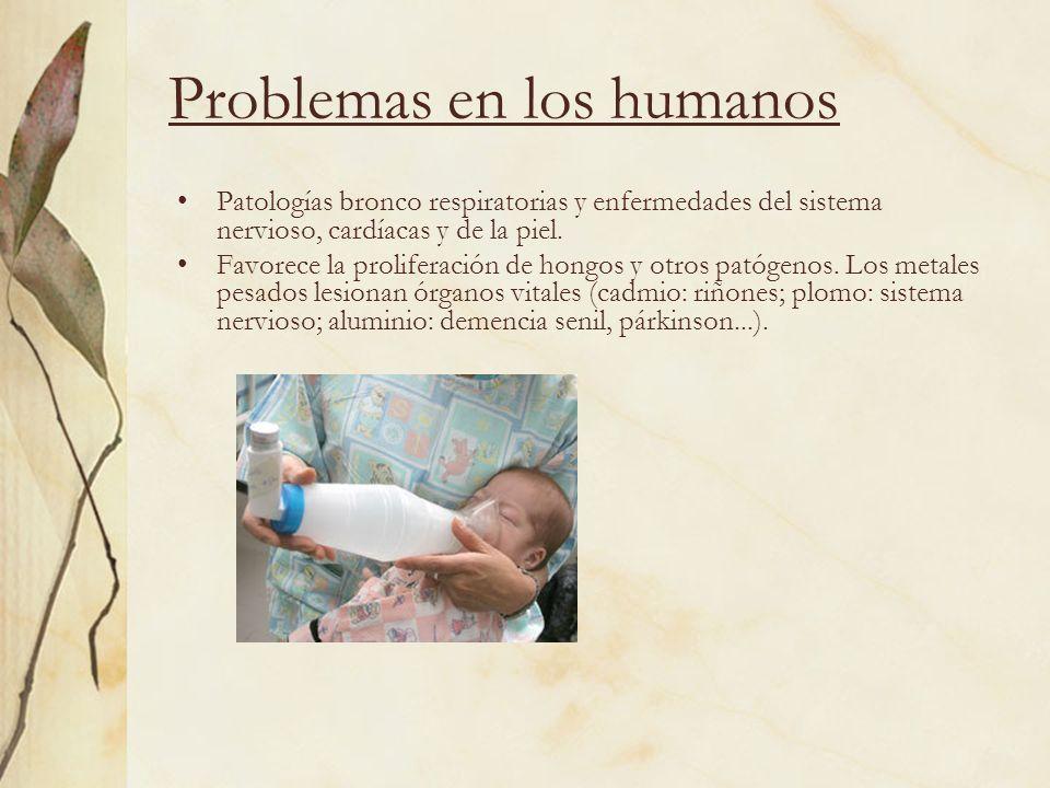 Problemas en los humanos