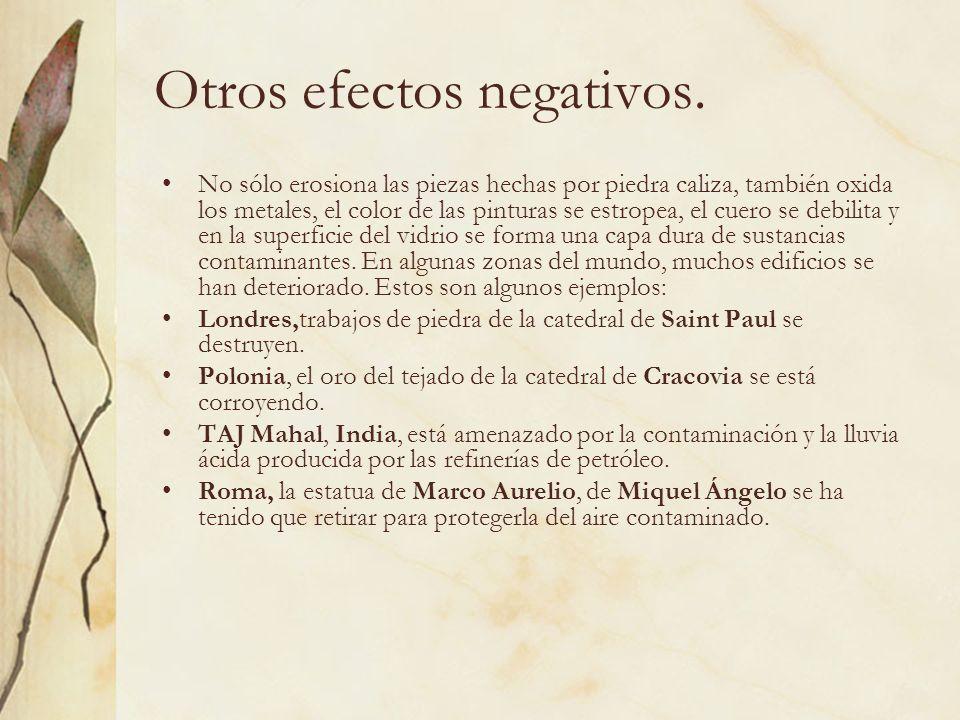 Otros efectos negativos.