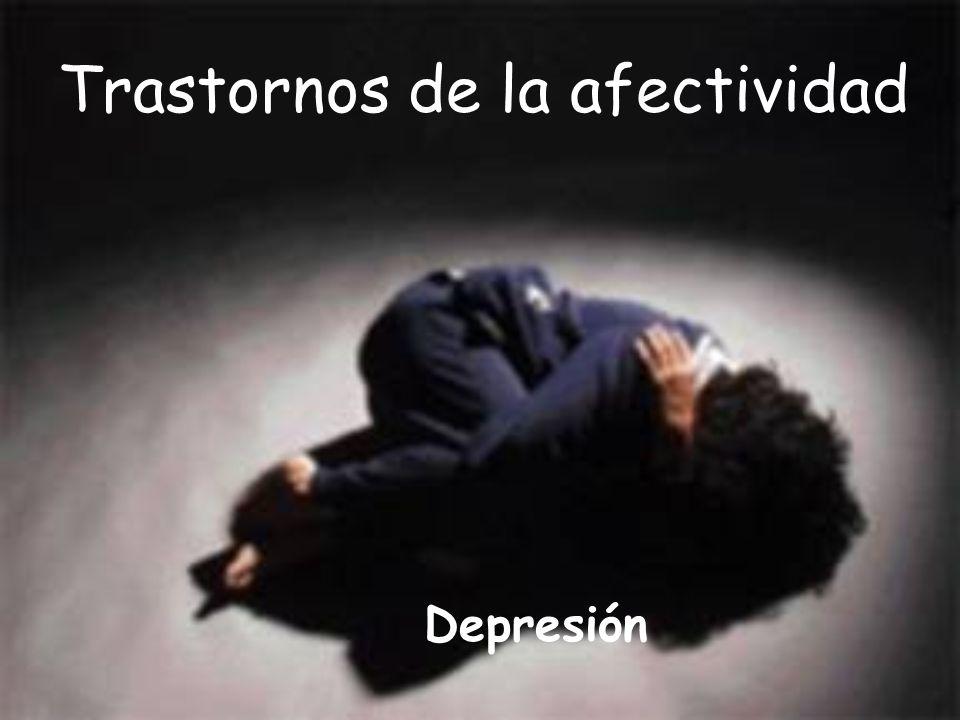 Trastornos de la afectividad