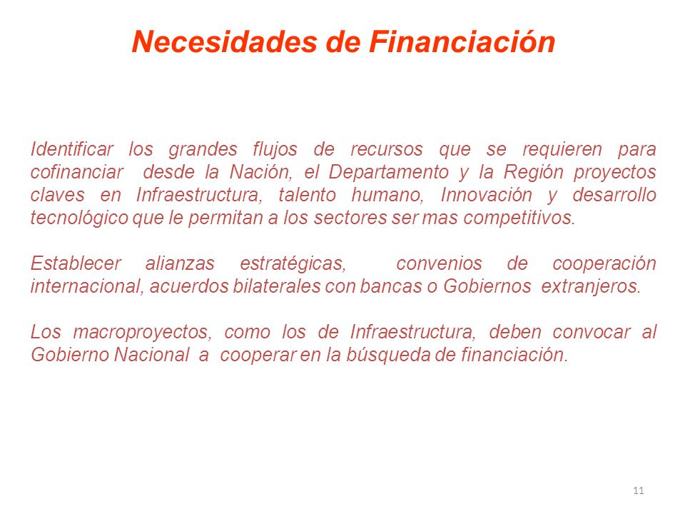 Necesidades de Financiación