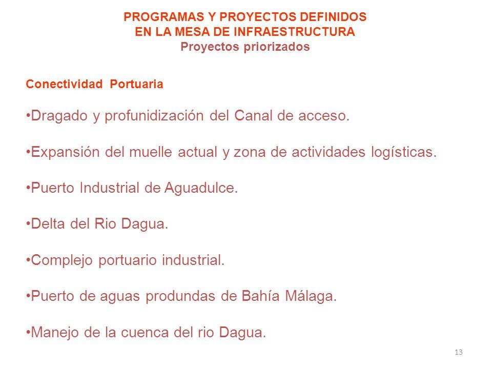 Dragado y profunidización del Canal de acceso.