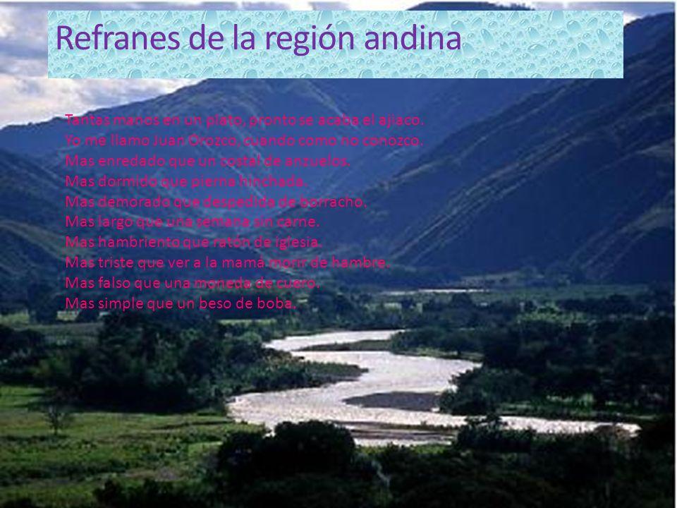 Refranes de la región andina
