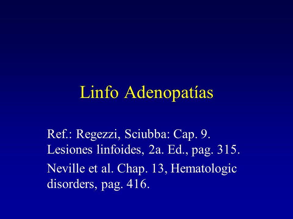 Linfo Adenopatías Ref.: Regezzi, Sciubba: Cap. 9.