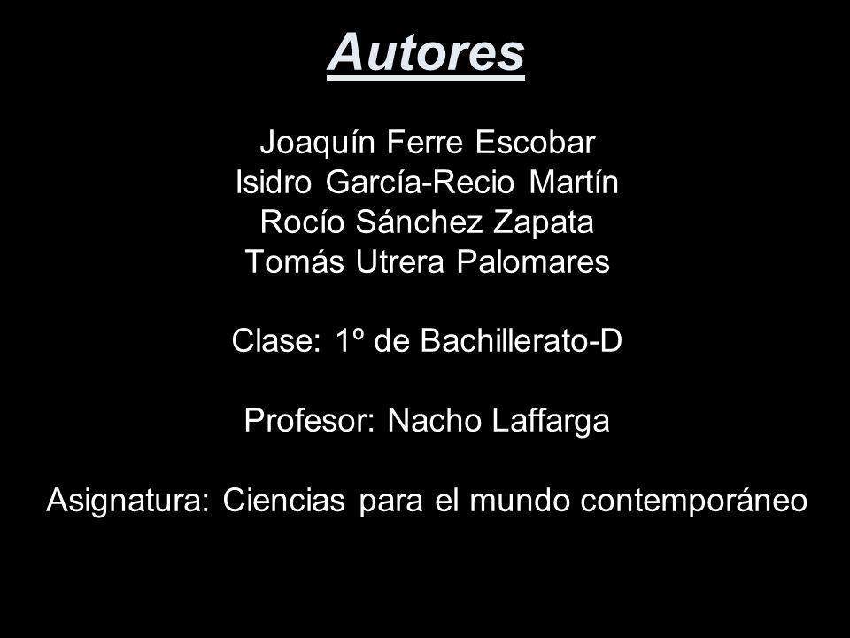 Autores Joaquín Ferre Escobar Isidro García-Recio Martín