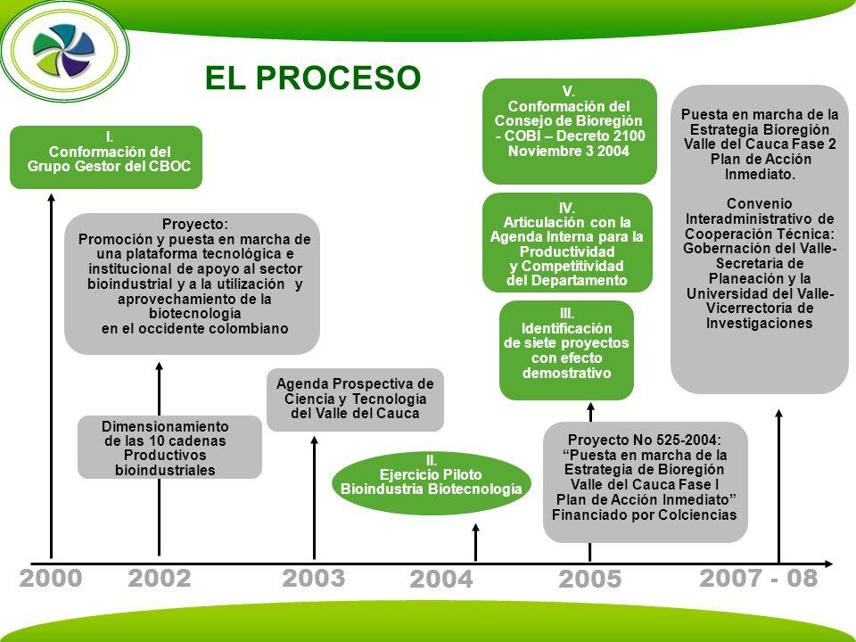 EL PROCESO V. Conformación del Consejo de Bioregión. - COBI – Decreto 2100 Noviembre 3 2004. Puesta en marcha de la Estrategia Bioregión.