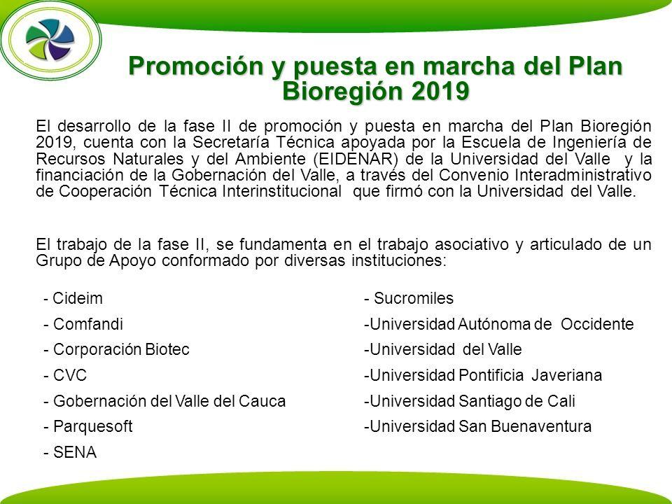 Promoción y puesta en marcha del Plan Bioregión 2019