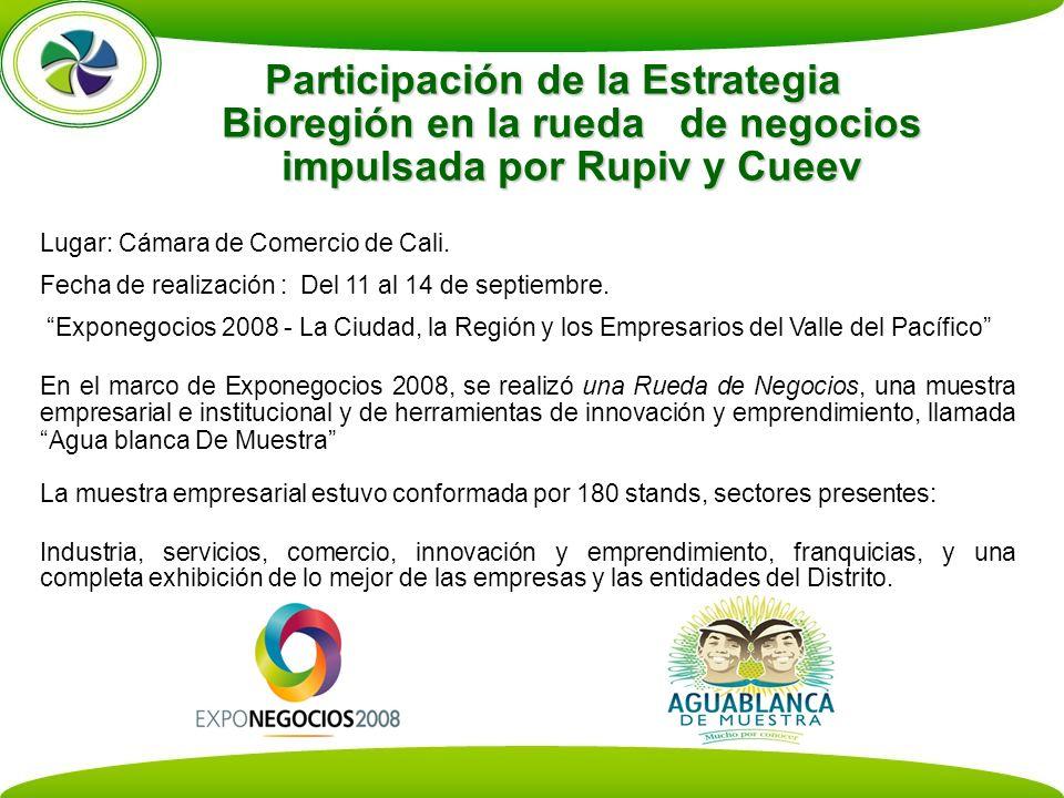 Participación de la Estrategia Bioregión en la rueda de negocios impulsada por Rupiv y Cueev