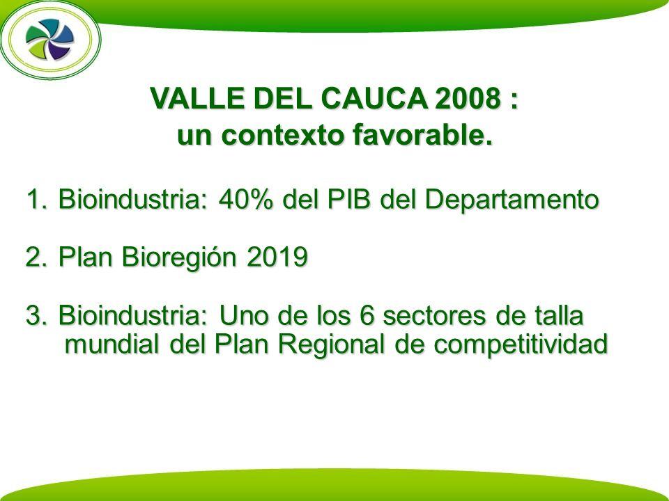 VALLE DEL CAUCA 2008 : un contexto favorable.