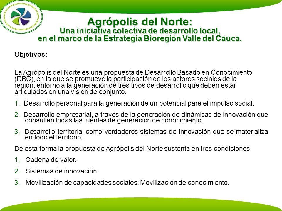 Agrópolis del Norte: Una iniciativa colectiva de desarrollo local, en el marco de la Estrategia Bioregión Valle del Cauca.