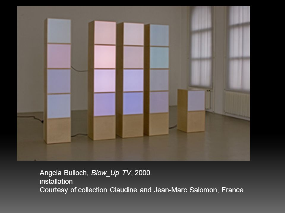 Angela Bulloch, Blow_Up TV, 2000 installation Courtesy of collection Claudine and Jean-Marc Salomon, France