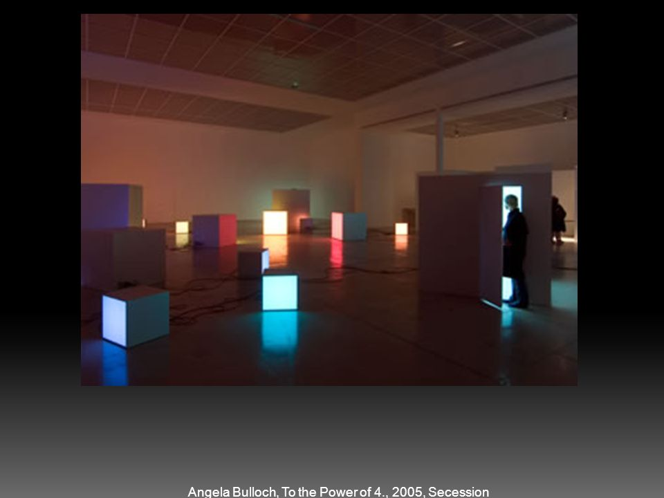Angela Bulloch, To the Power of 4., 2005, Secession