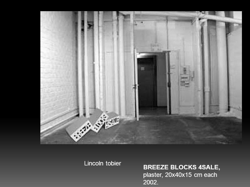 BREEZE BLOCKS 4SALE, plaster, 20x40x15 cm each 2002.