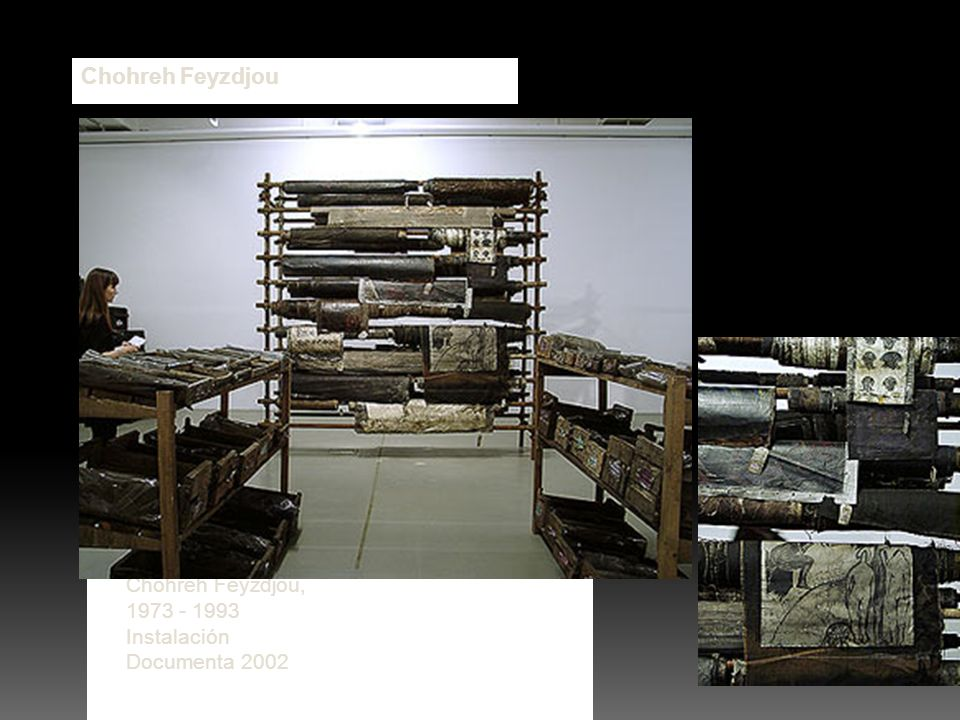 Chohreh Feyzdjou Boutique Product of Chohreh Feyzdjou, 1973 - 1993 Instalación Documenta 2002