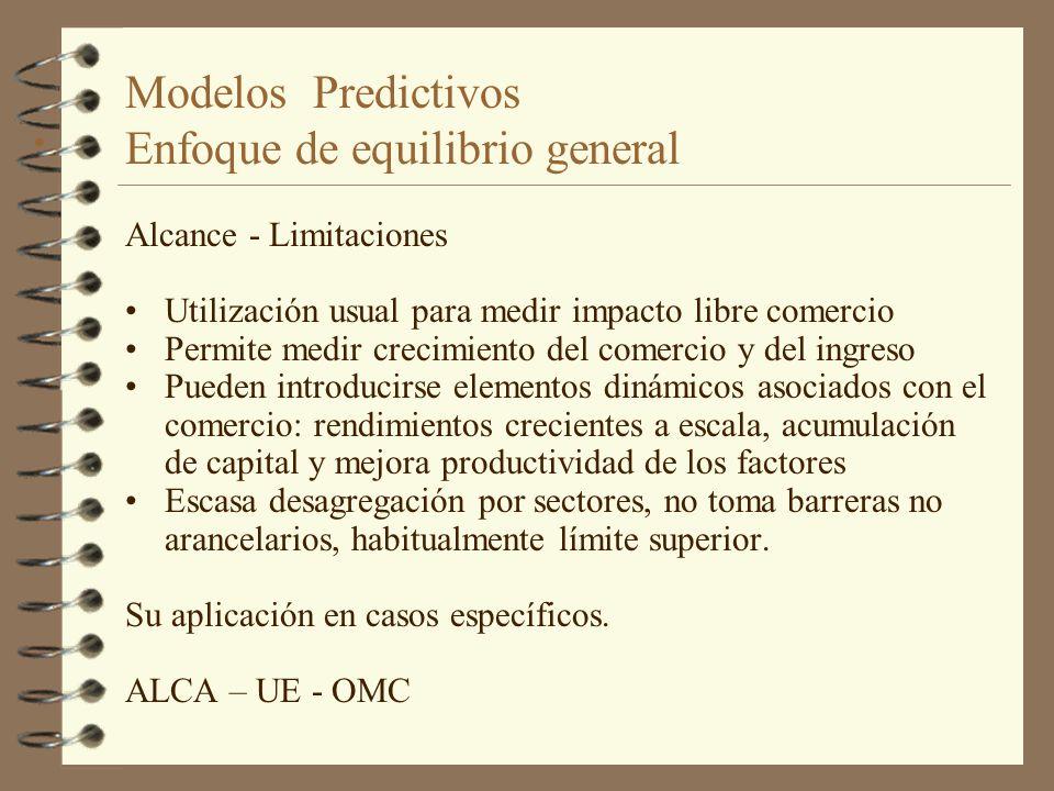 Modelos Predictivos Enfoque de equilibrio general