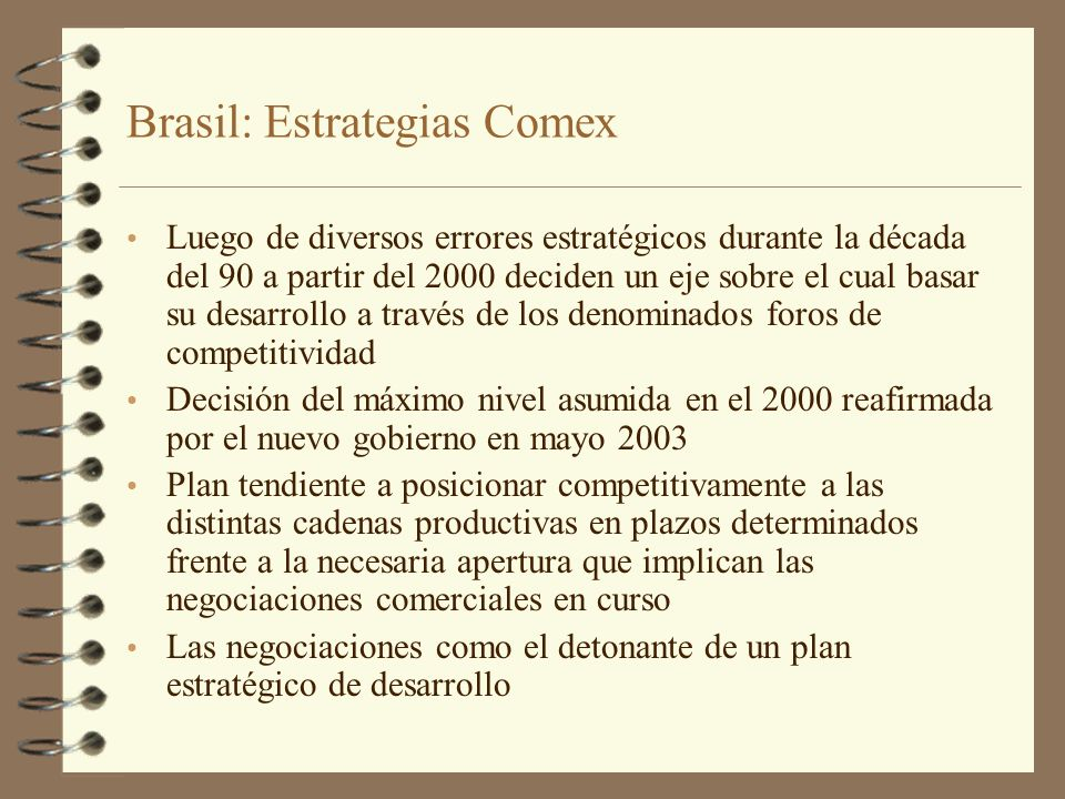 Brasil: Estrategias Comex
