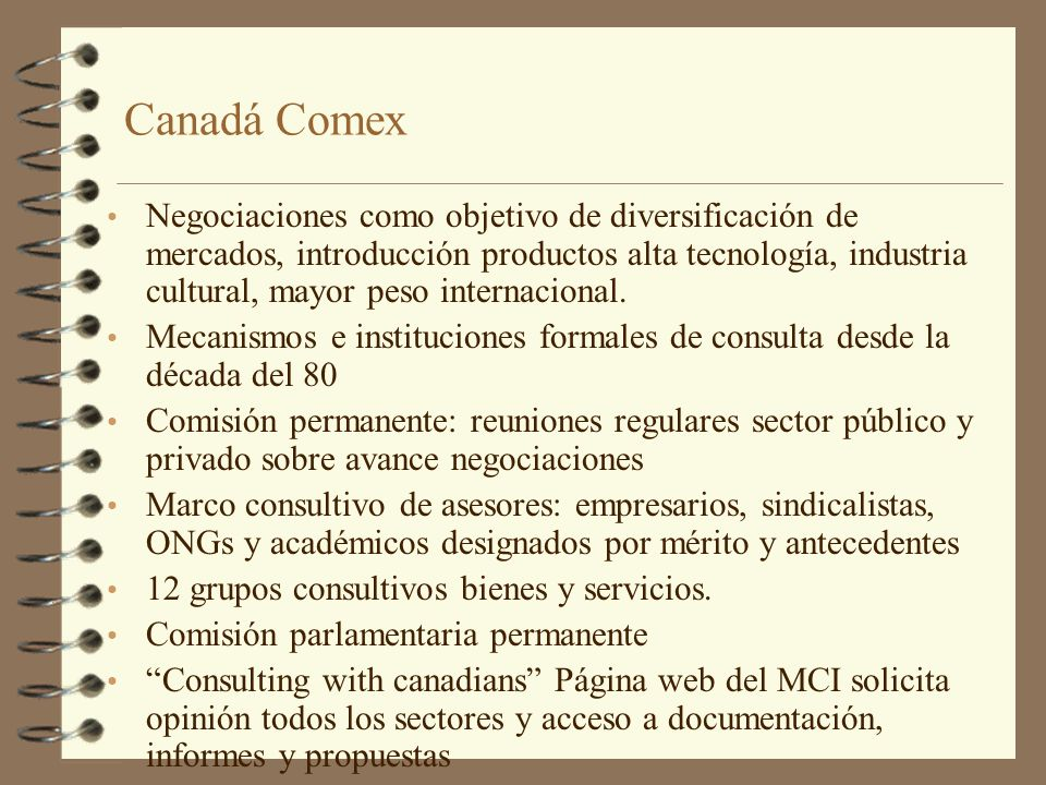 Canadá Comex