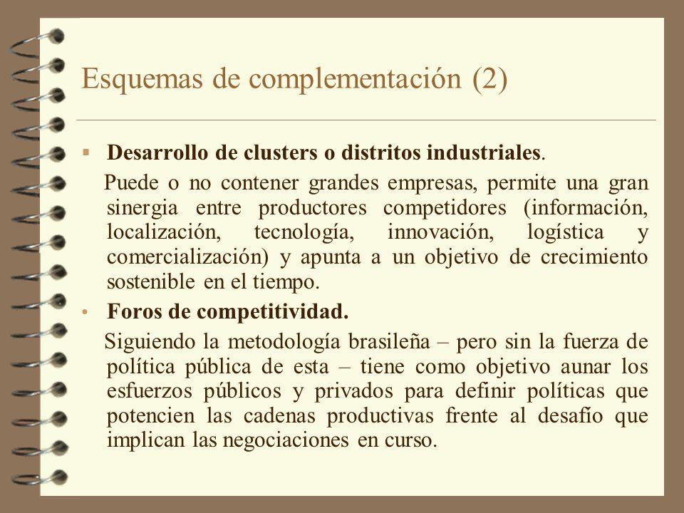 Esquemas de complementación (2)