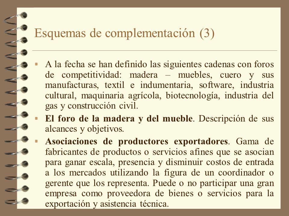Esquemas de complementación (3)