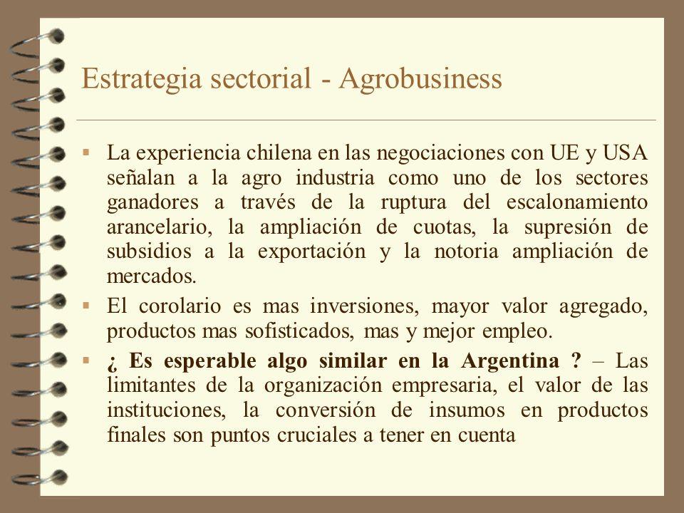 Estrategia sectorial - Agrobusiness