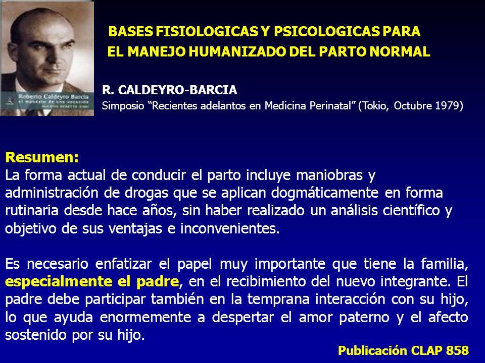 BASES FISIOLOGICAS Y PSICOLOGICAS PARA