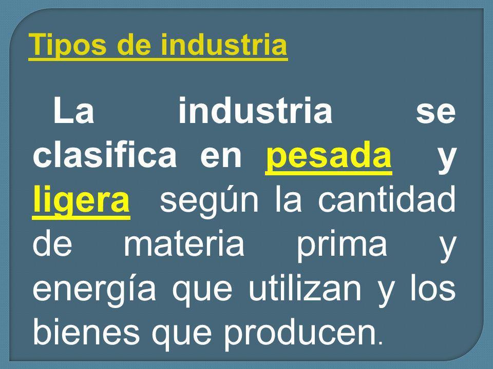 Tipos de industria