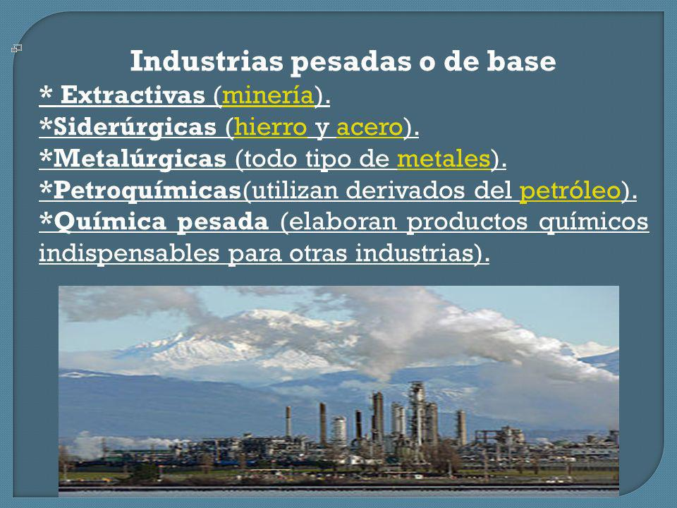 Industrias pesadas o de base