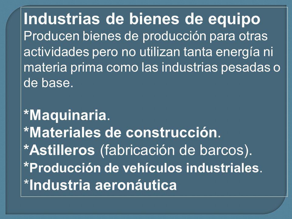 Industrias de bienes de equipo