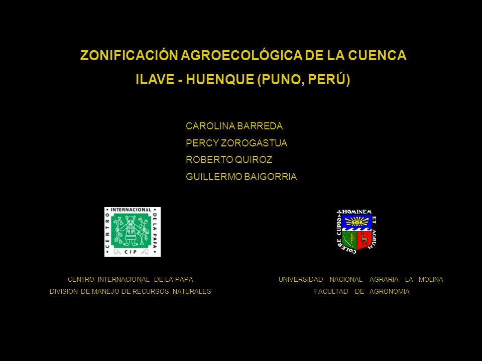 ZONIFICACIÓN AGROECOLÓGICA DE LA CUENCA ILAVE - HUENQUE (PUNO, PERÚ)
