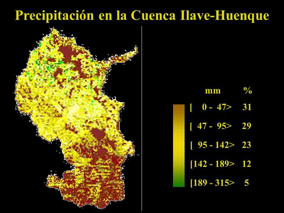 Precipitación en la Cuenca Ilave-Huenque