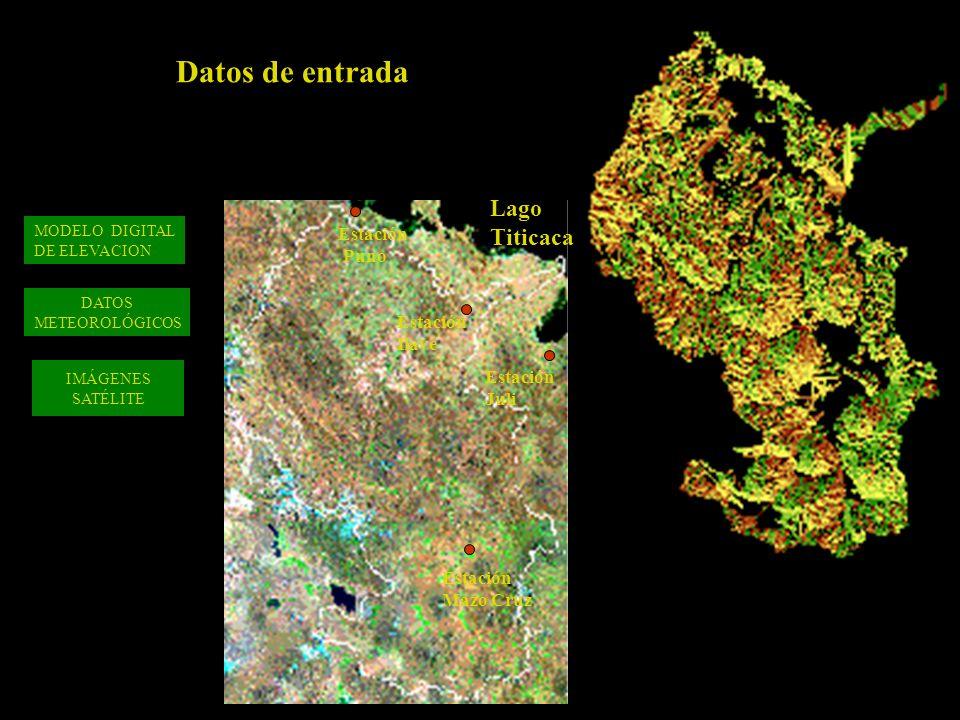 Datos de entrada Lago Titicaca Estación Puno Ilave Juli Mazo Cruz
