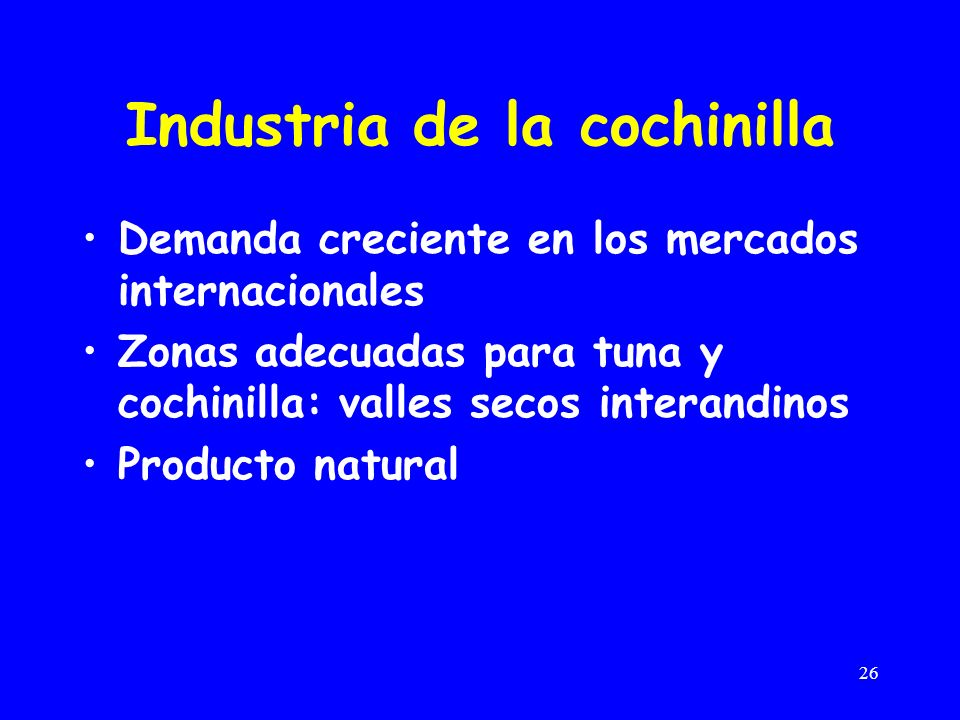 Industria de la cochinilla