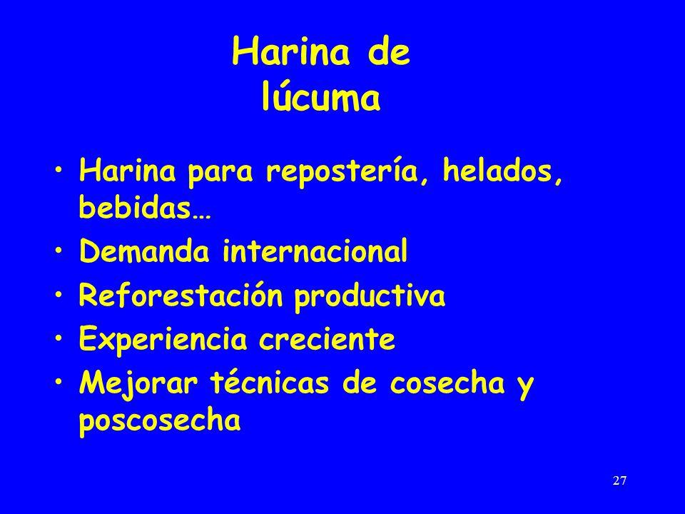 Harina de lúcuma Harina para repostería, helados, bebidas…