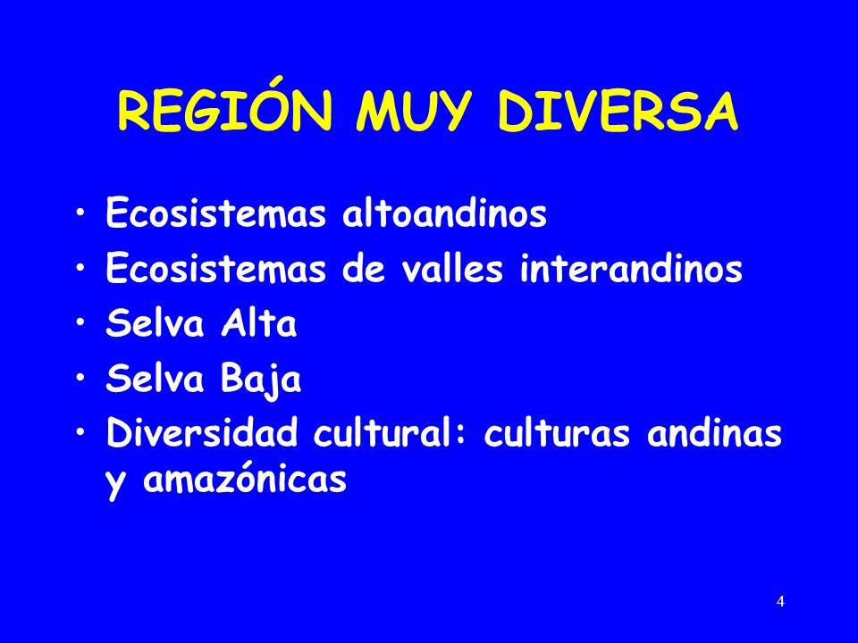 REGIÓN MUY DIVERSA Ecosistemas altoandinos