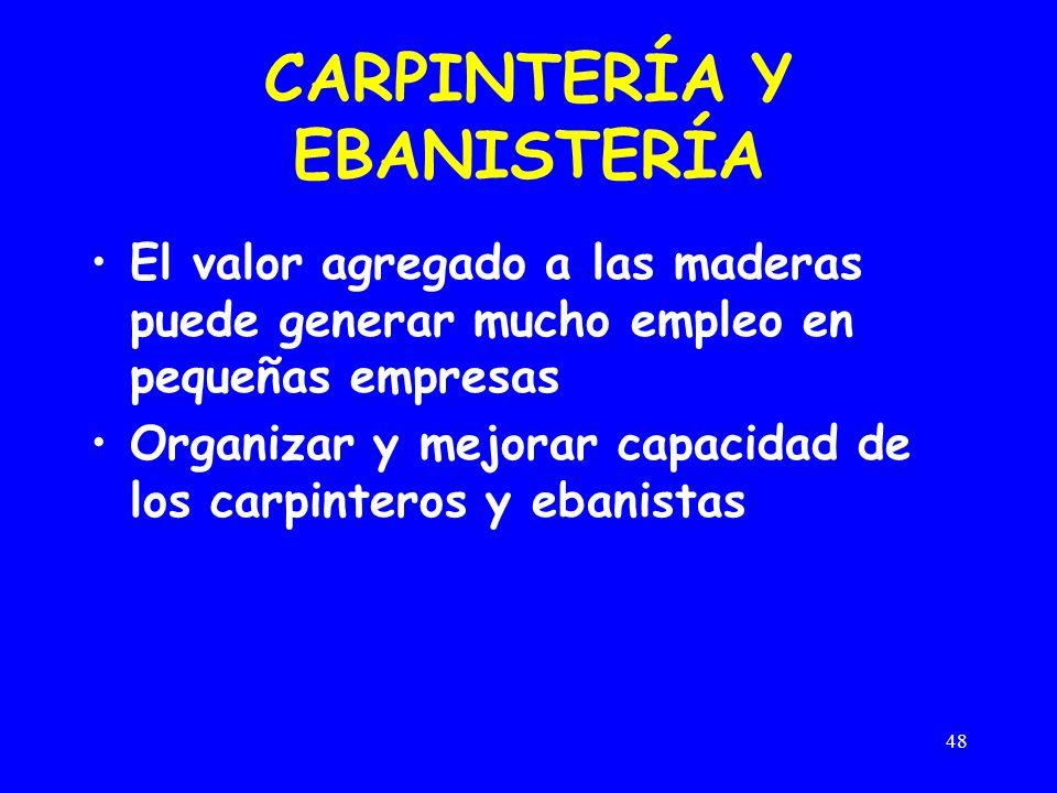 CARPINTERÍA Y EBANISTERÍA