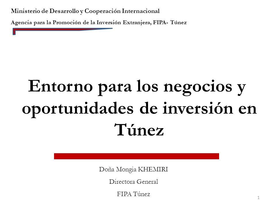 Entorno de los negocios y oportunidades de inversión en Túnez