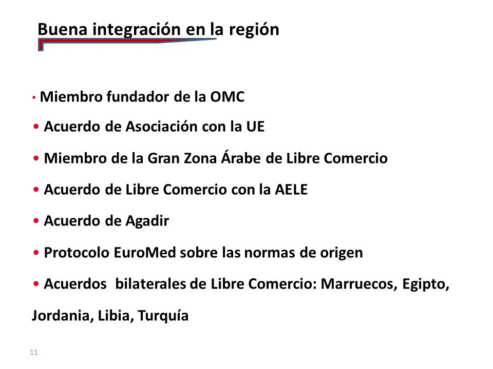 Buena integración en la región